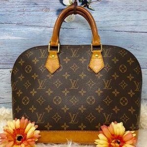 Authentic Louis Vuitton Alma Monogram Satchel Bag